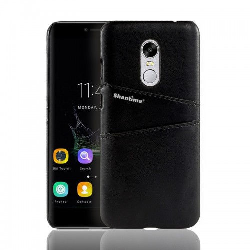 Leather Pattern Shockproof Case On for Xiaomi Redmi 5 Plus black a073200-2