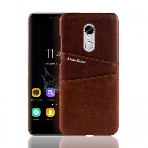 Pu Leather Wallet Case For Xiaomi Redmi 5 brown a113200-5