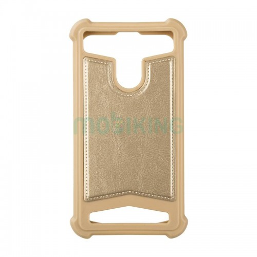"Universal Soft Leather Case 5,5""-5,7"" Gold"