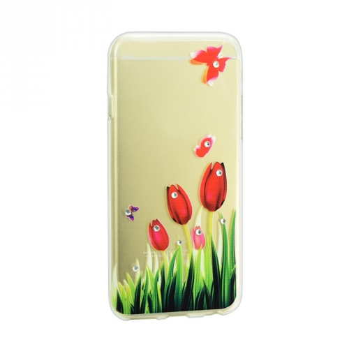 Lucent Diamond Case for Xiaomi Redmi 5a Tulips (Red) 63649